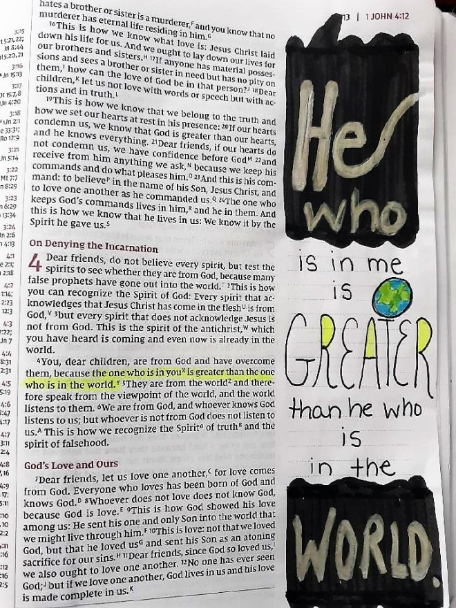 He is Greater.